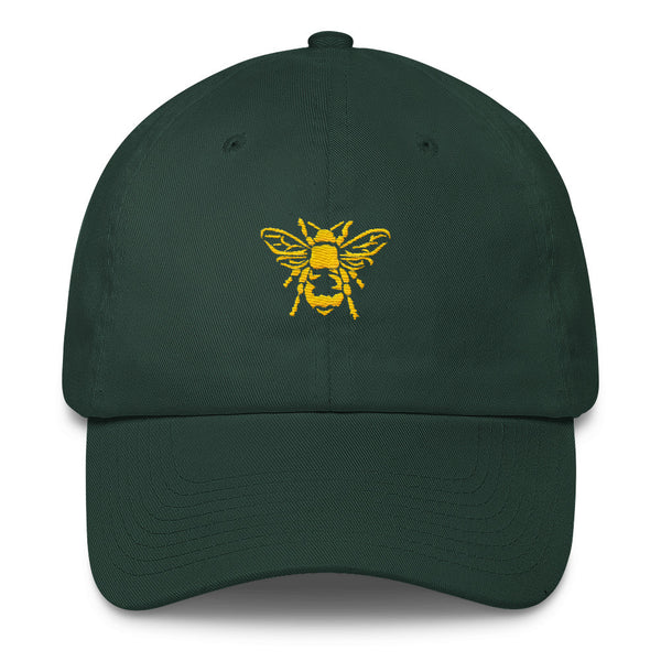 Honey Yellow Honeybee - Embroidered Cotton Cap