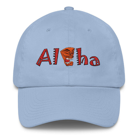 Aloha With Tiki - Hawaii Lovers' Cotton Cap
