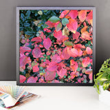 Hot Pink Autumn leaves Framed Photo Paper Poster