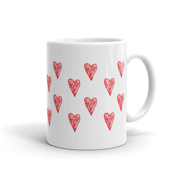 Red Hearts - Love Mug