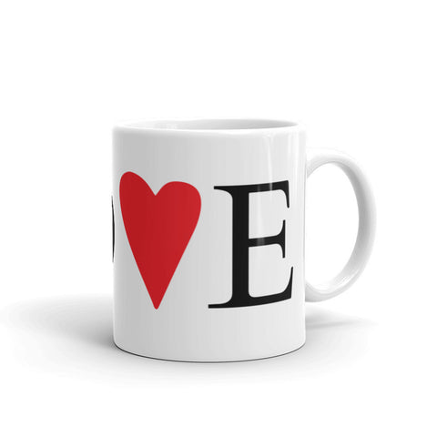 Red Heart Love - Mug