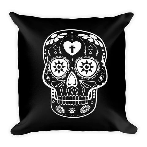 Sugar Skull Square Throw Pillow