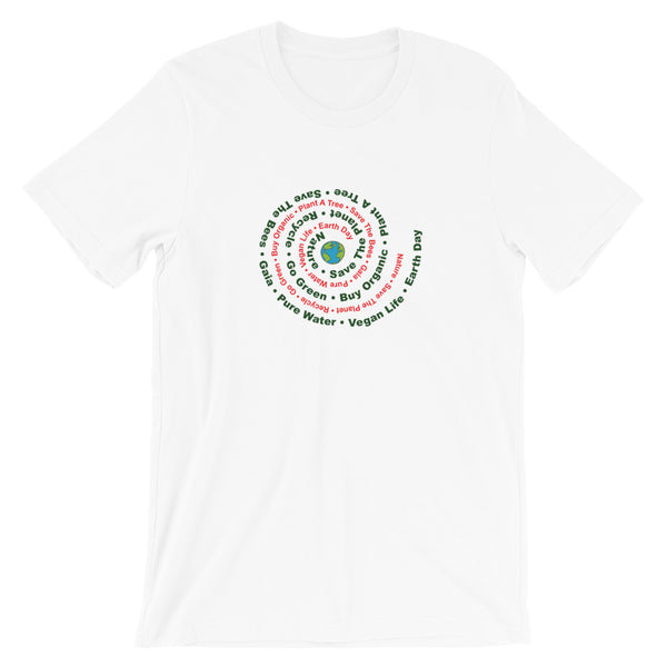 Earth Day Eco Awareness Unisex Short Sleeve T-Shirt