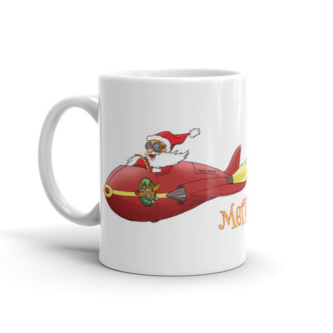 Supersonic Santa Christmas Mug