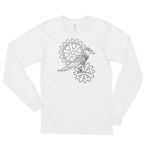 Steampunk Raven And Cogs - Long Sleeve T-Shirt (unisex)