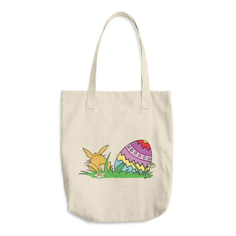 Easter Bunny And Easter Egg Reusable Shopping Tote Bag