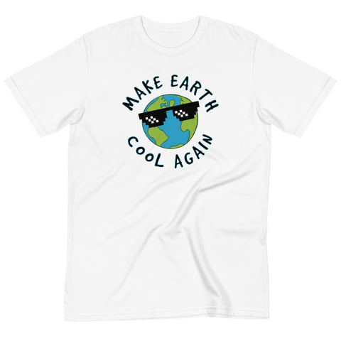 Make Earth Cool Again Climate Change Awareness Organic T-Shirt (Unisex)