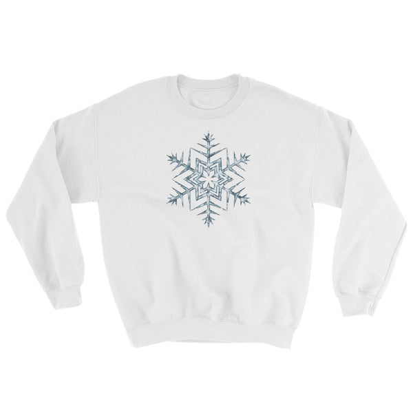 Frozen Icy Snowflake Sweatshirt For Winter Lovers (Unisex)