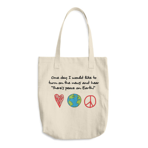 Peace On Earth - Reusable Cotton Shopping Tote Bag