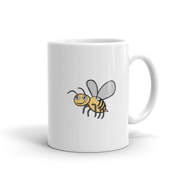 Jimmo Designs original Bee Lovers Honey Bee Mug. It helps create awareness of the ecological tragedy that is currently happening in the world of bees. Help save the bees. Plant as many flowers in your backyard as only possible!