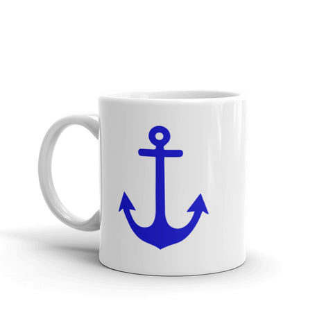 Navy Blue Anchor Nautical Mug