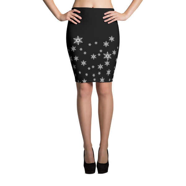 Snowlakes Sublimation Cut & Sew Pencil Skirt