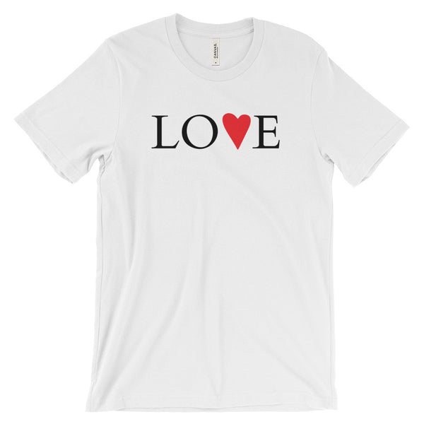 Red Heart Love - Unisex Short Sleeve T-Shirt
