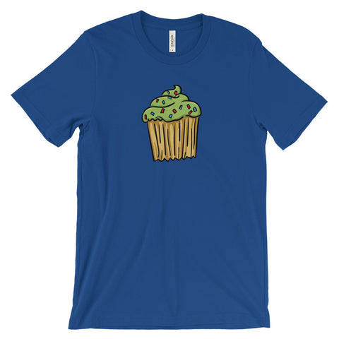 Green Cupcake - Unisex Short Sleeve T-Shirt