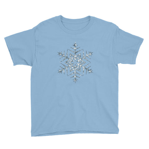 Frozen Icy Snowflake Youth Short Sleeve T-Shirt