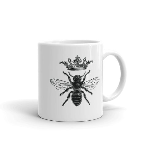 Vintage Queen Bee Honey Lovers Mug inspired by the French Empire Napoleonic royal bee design. It has a slight touch of the shabby nostalgic chic. Perfect gift for historians, beekeepers, entomologists, and everybody who cares about bees.