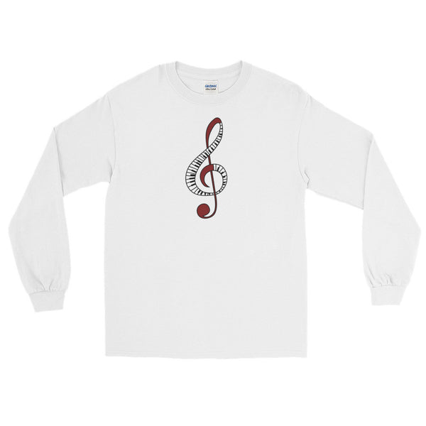 Treble Clef - Long Sleeve T-Shirt For Music Lovers