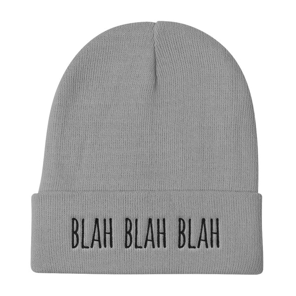 Embroidered Urban Dictionary Blah Blah Blah Knit Beanie (Unisex)
