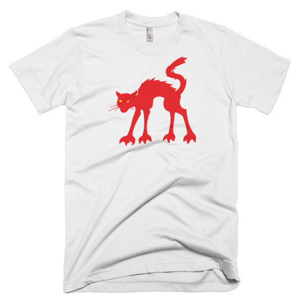 Wild Red Cat - Short Sleeve Men's T-Shirt