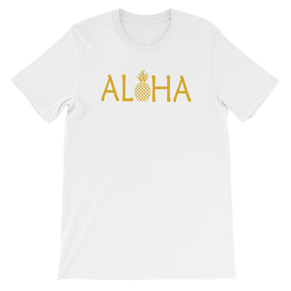 ALOHA - Golden Pineapple Unisex Short Sleeve T-Shirt