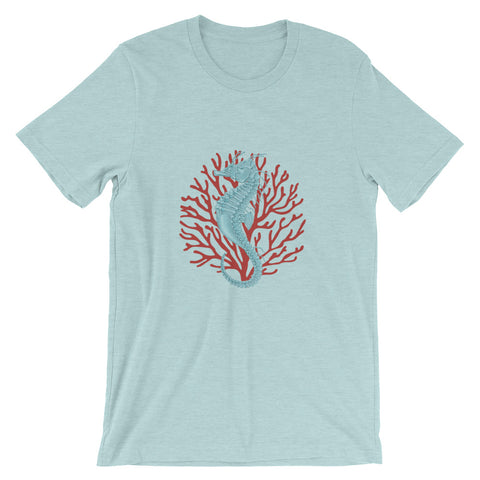 Seahorse And Coral Short-Sleeve Unisex T-Shirt