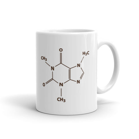 Jimmo Designs original Coffee Chemistry Caffeine Molecule Mug. It was designed especially for coffee lovers and chemistry students who love coffee as much as they love science. We know that for some people life begins after first sip of coffee in the morning. We understand you perfectly.