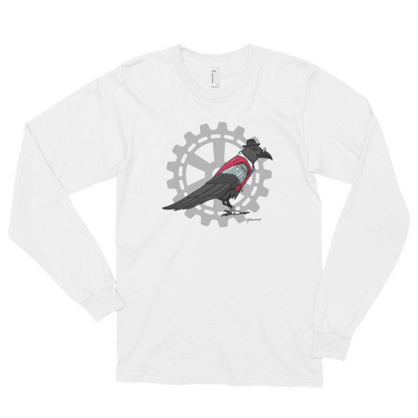 Steampunk Raven Guide - Long Sleeve T-Shirt (unisex)