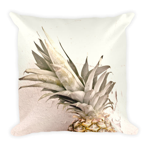 Pale Pineapple Square Throw Pillow