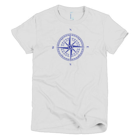 Compass Rose Nautical Short Sleeve Women's T-Shirt