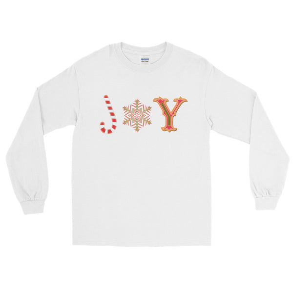 JOY Long Sleeve Christmas T-Shirt (Unisex)