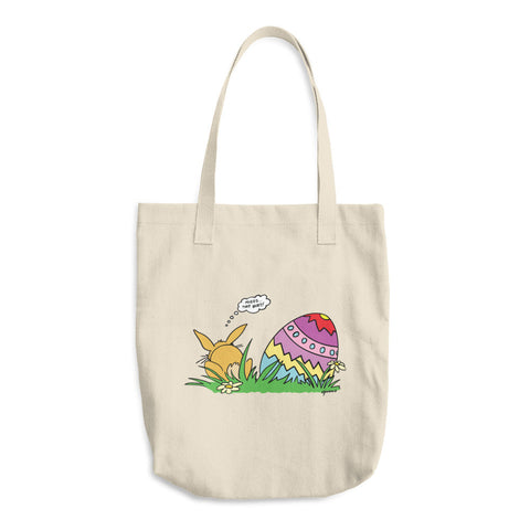 Easter Bunny - Reusable Cotton Shopping Tote Bag