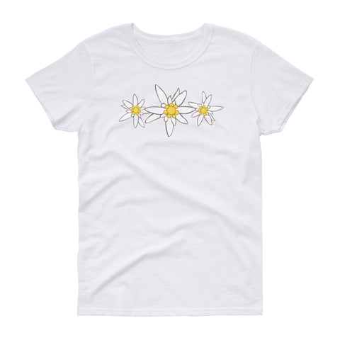 Edelweiss Flowers Oktoberfest Ladies' Short Sleeve T-Shirt