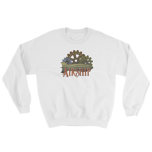 Steampunk Airship And Cogs Sweatshirt (Unisex)