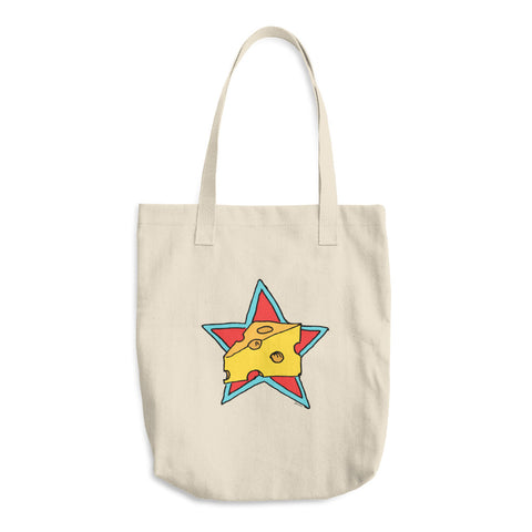 Cheese Superstar Reusable Cotton Shopping Tote Bag