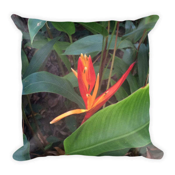 Tropical Singapore Flower Throw Pillow