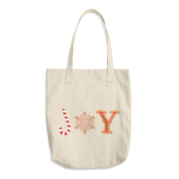 JOY Reusable Cotton Shopping Tote Bag For The Holiday Season