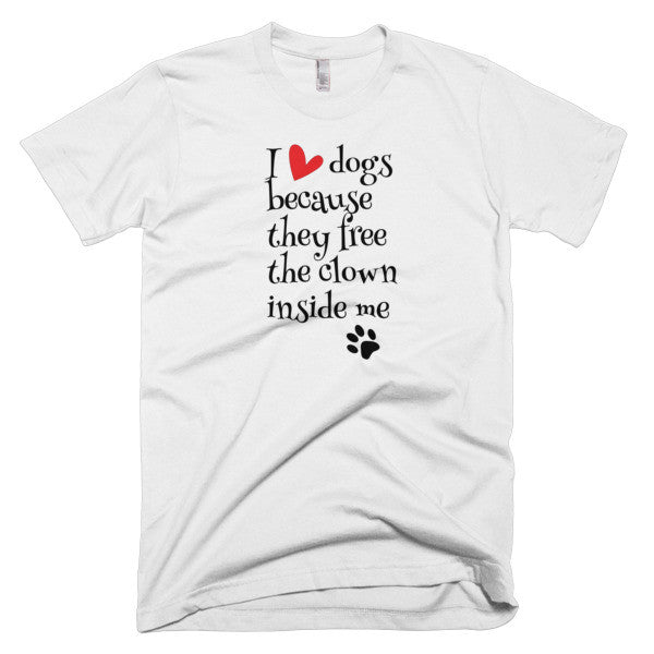 "Dog Lovers ""I Love Dogs"" Men's Short Sleeve T-Shirt"