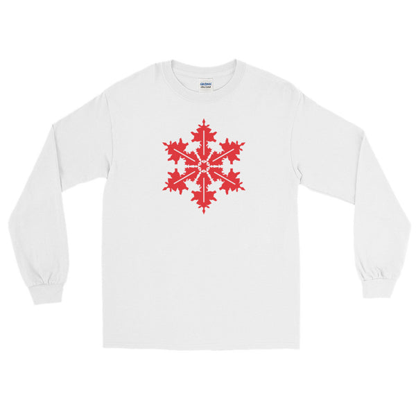 Red Snowflake - Long Sleeve T-Shirt (Unisex)