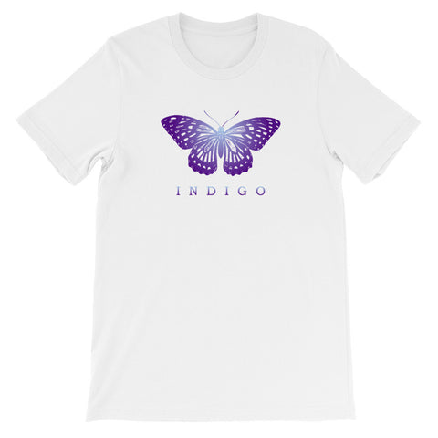 Indigo Butterfly - Unisex Short Sleeve T-Shirt