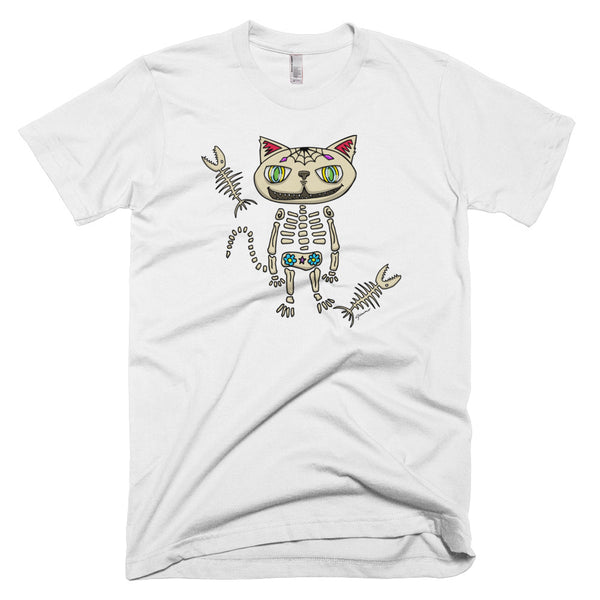 Sugar Skull Cat Short-Sleeve Men's T-Shirt