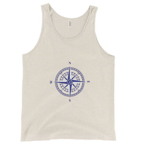 Compass Rose Unisex Nautical Tank Top