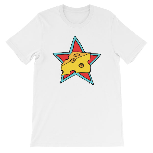 Cheese Superstar - Short Sleeve T-Shirt For Cheese Lovers (Unisex)