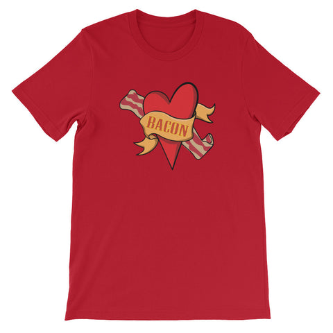 Bacon Heart - Unisex Short Sleeve T-Shirt For Bacon Lovers