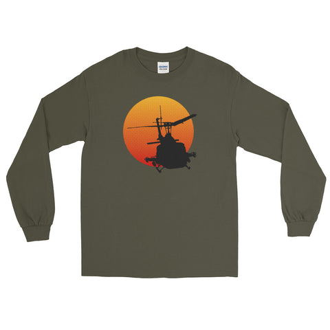 UH-1 Iroquois - Huey Helicopter Military History Long Sleeve Shirt (Unisex)