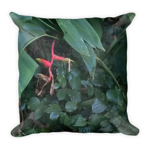 Tropical Greenery Throw Pillow