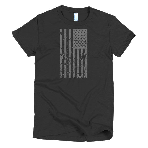 Old Glory Still Waves Patriotic Short Sleeve Women's T-Shirt