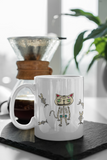 Jimmo Designs Sugar Skull Cat Dia De Muertos Mug