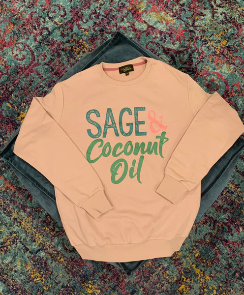 Sage and Coconut Oil Crewneck