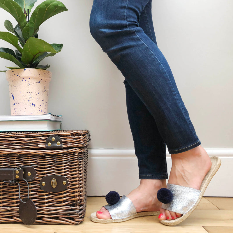DIY Cute Pom Pom or Summer Sparkle Espadrilles