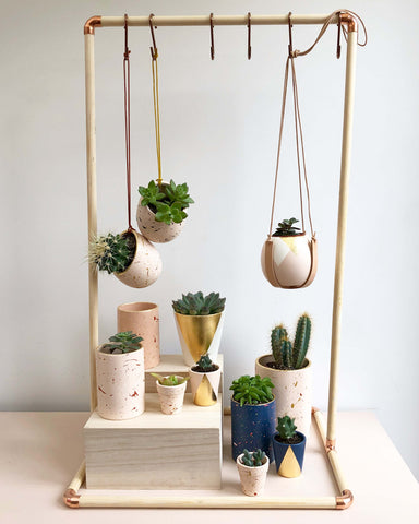Hello Marilu home made plant hanging display